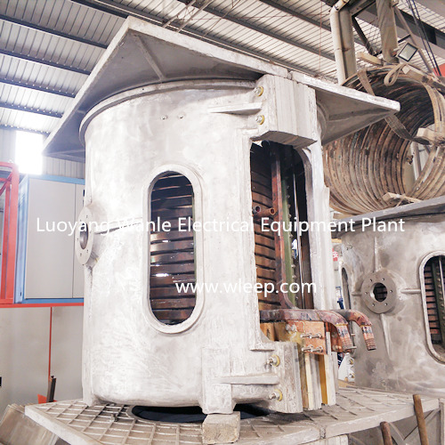 3T Aluminium Shell IF Induction Steel Melting Furnace
