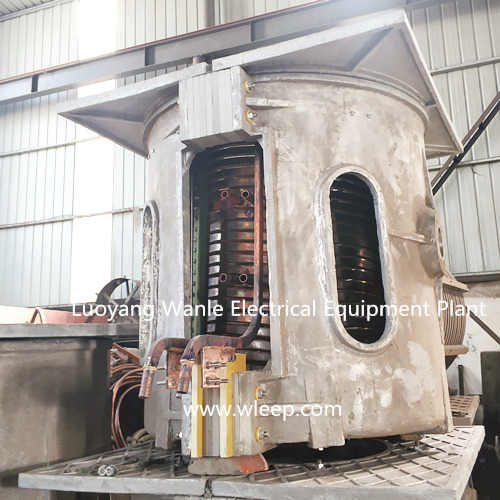 2T Aluminium Shell IF Induction Steel Melting Furnace